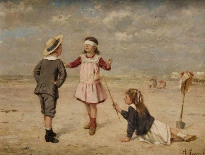 Альберт Русенбум (бельгиец, 1845-1875). «Blindmans Buff».