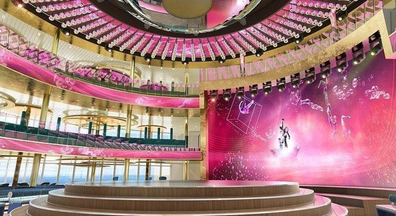 Театр в три палубы высотой AIDAnova, carnival, ynews, германия, корабль, лайнер, мир, новости