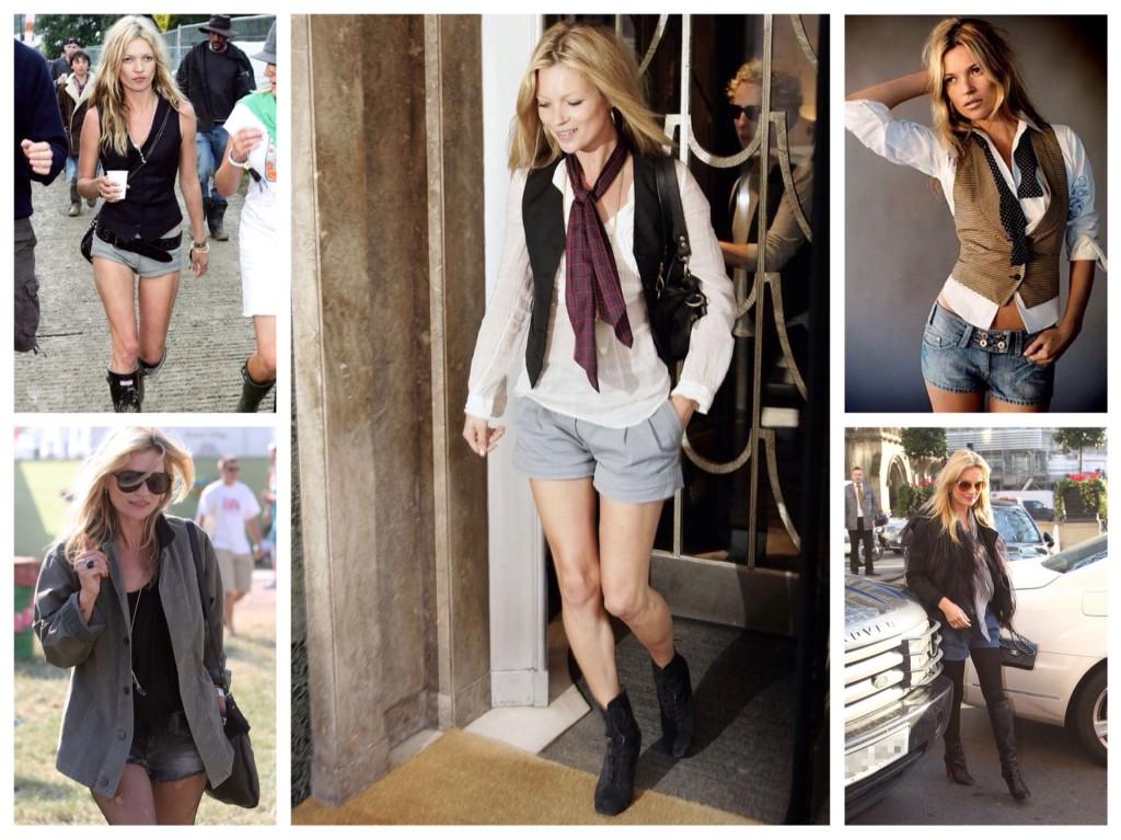 Кейт Мосс в шортах