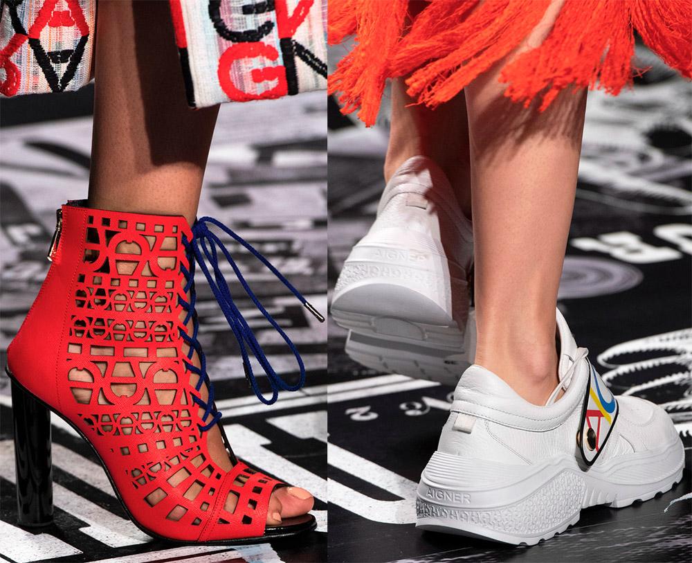 Сумки, кошельки и женская обувь Aigner 2019 года лучшее