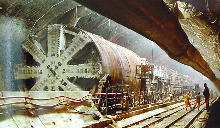 7. Евротоннель (тоннель под Ла-Маншем) архитектура, достопримечательности, интересно, исторические фото, исторические фотографии, познавательно, сооружения, строительство