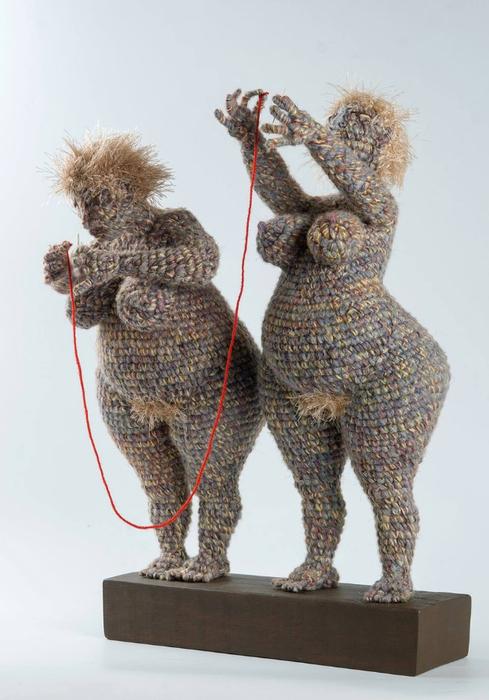 Забавные вязаные скульптуры Юлии Устиновой