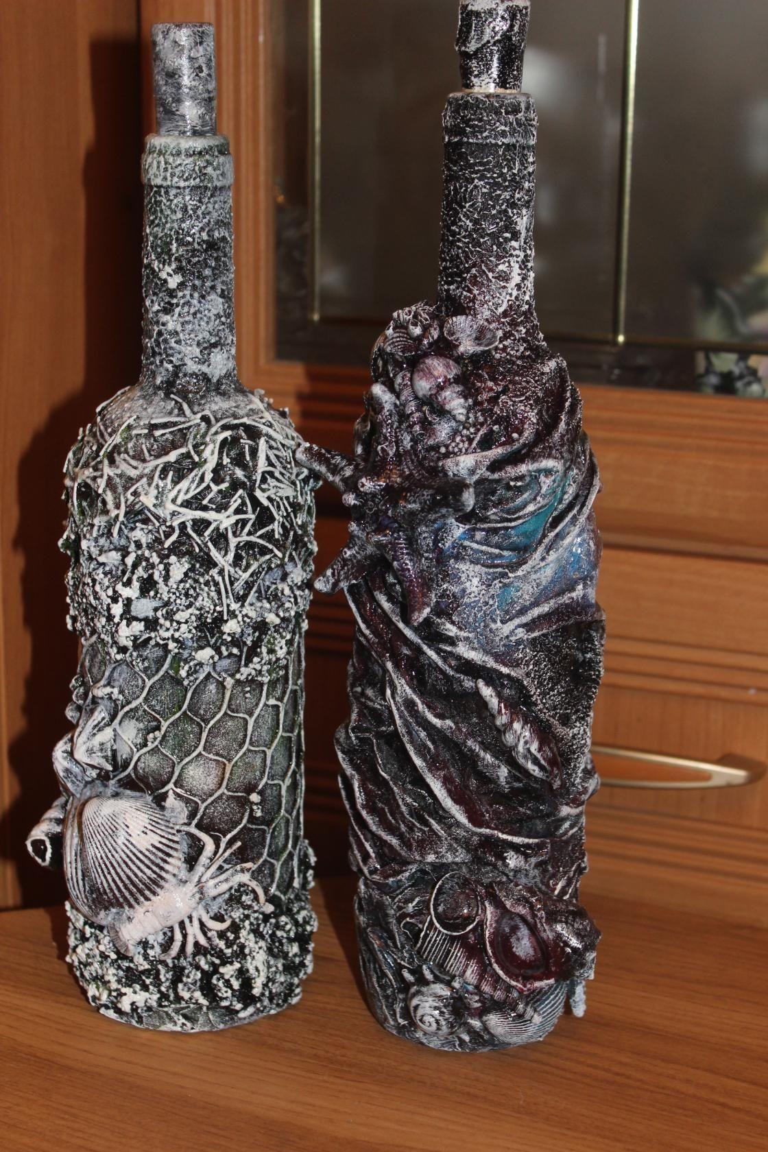 Декор бутылки своими руками картинки