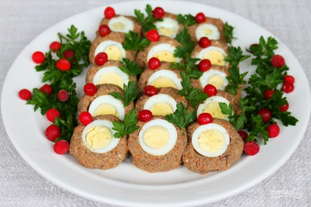 Печеночный паштет с яйцами