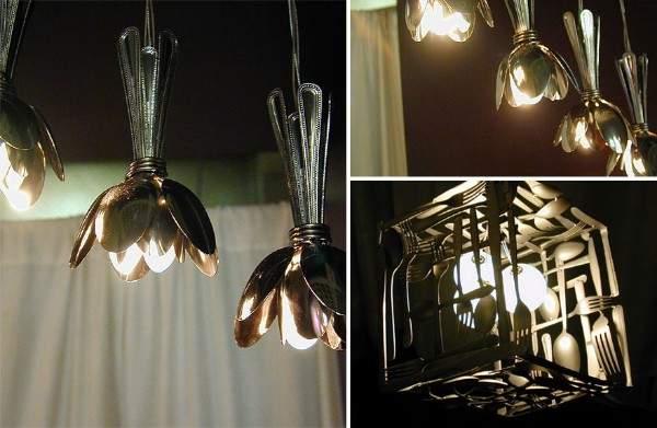 Интересные идеи для дома своими руками - фото светильников на кухню