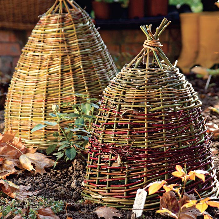 Плетённая КОРЗИНА-КОЛПАК для уютной зимовки ваших любимых растений. МК