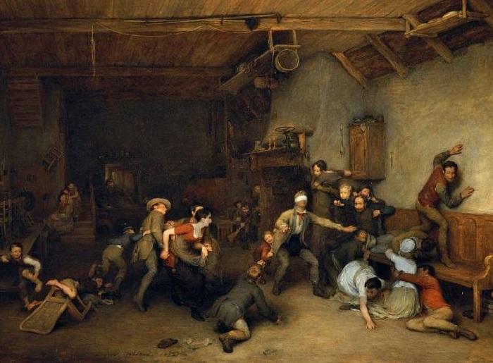 Дэвид Вилки (шотландец). «Blindmans Buff». (1812 год). Королевская коллекция, Лондон