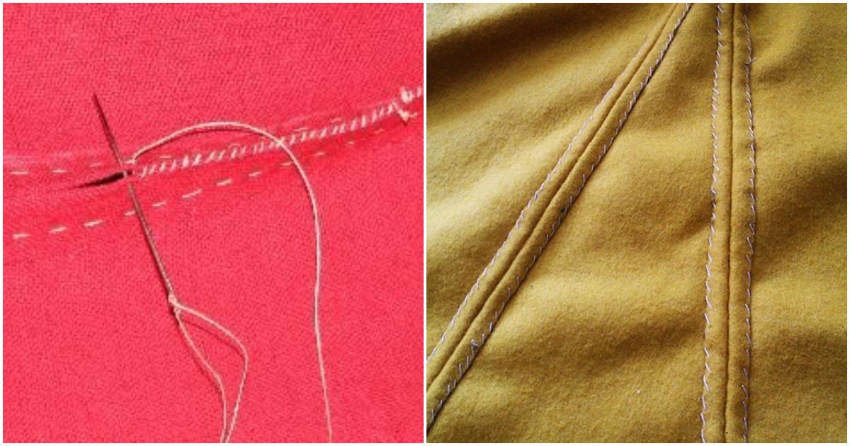Ручные швы, которые могут заменить швейную машинку