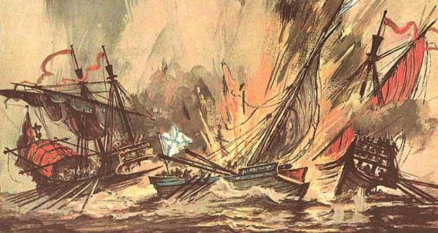 Разгром турецкого флота в Оч…