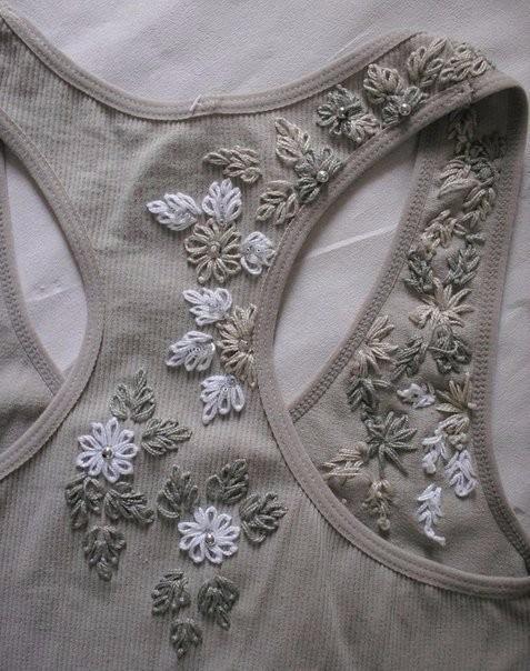 Идеи декора маечек вышивкой