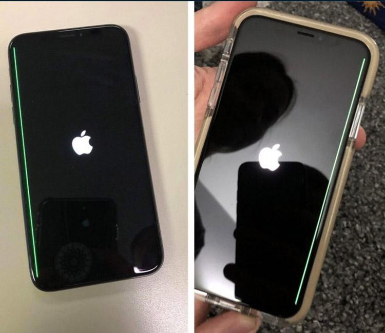 Владельцы iPhone X жалуются на неисчезающую зеленую полосу на экране смартфона