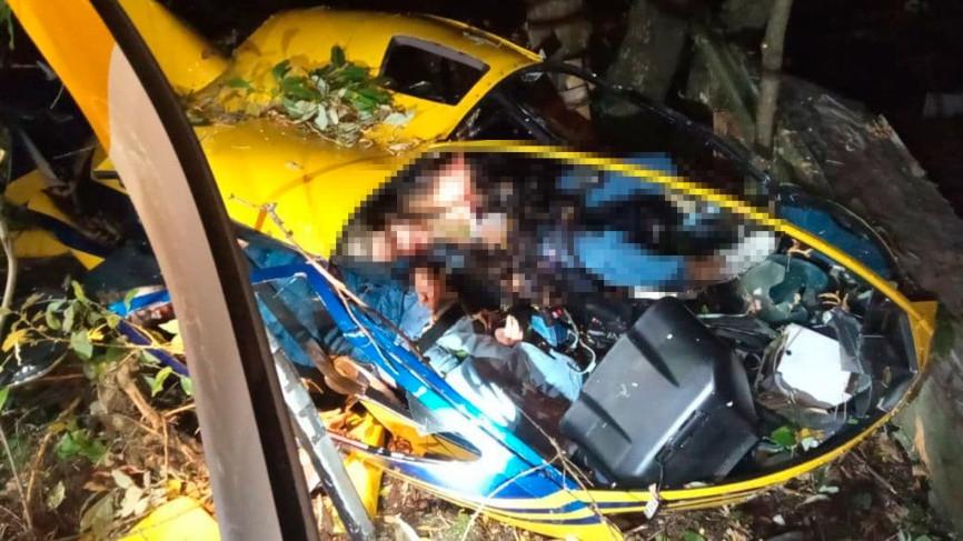 Молодая пара погибла при крушении вертолета Robinson в Подмосковье Происшествия