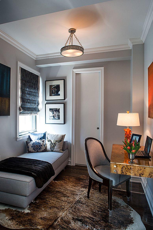 Домашний мини-офис при необходимости может стать комнатой для гостей