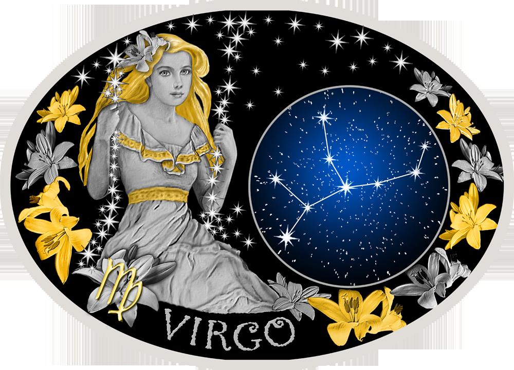 поясе вышита рисунки гороскопа девы зимний