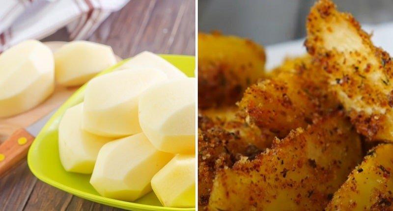 Как приготовить картофель в сухарях в домашних условиях