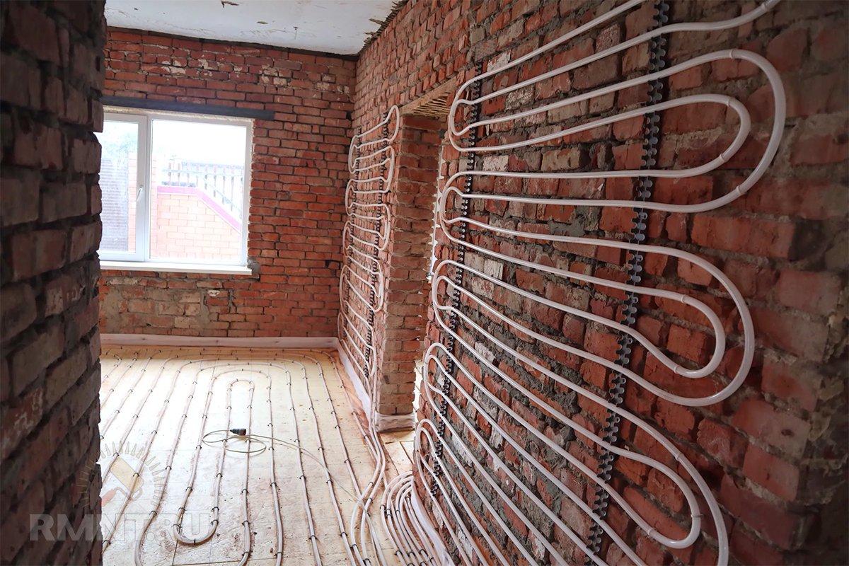 Тёплый пол на стене: плюсы и минусы отопление и теплоснабжение,ремонт и строительство