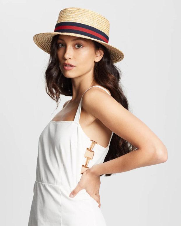 Модные головные уборы весна лето 2019: соломенная шляпа