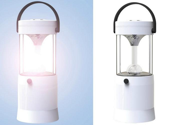 Лампа, которая работает от соленой воды. | Фото: Gagadget.