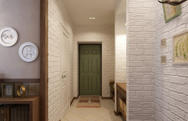 Стена под декоративный кирпичик в прихожей: как сделать своими руками