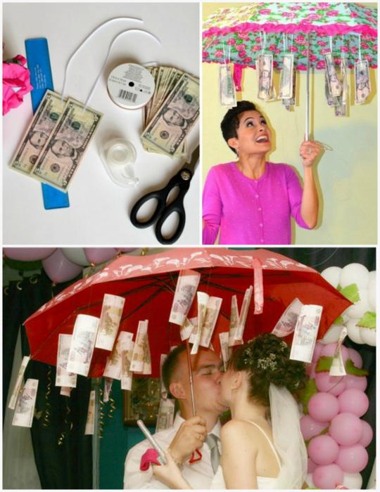 Зонт с деньгами на свадьбу фото стих объявления аренде