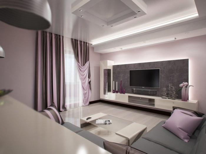 Пастельные оттенки в интерьере комнаты для приёма гостей выглядят очень красиво и выигрышно.