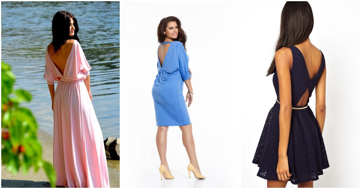 Роскошные модели платьев с открытой спиной: большая подборка для разных типов фигуры