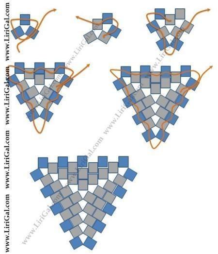 Впечатляющая геометрия из бисера бисер,украшения