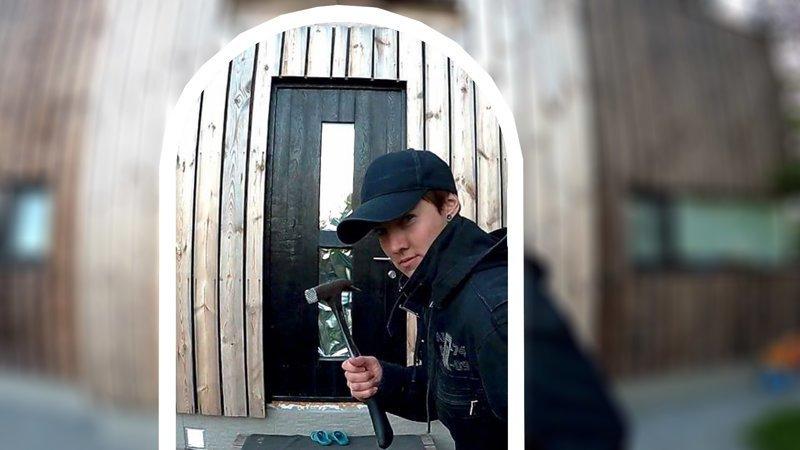 Простая деревянная дверь своими руками