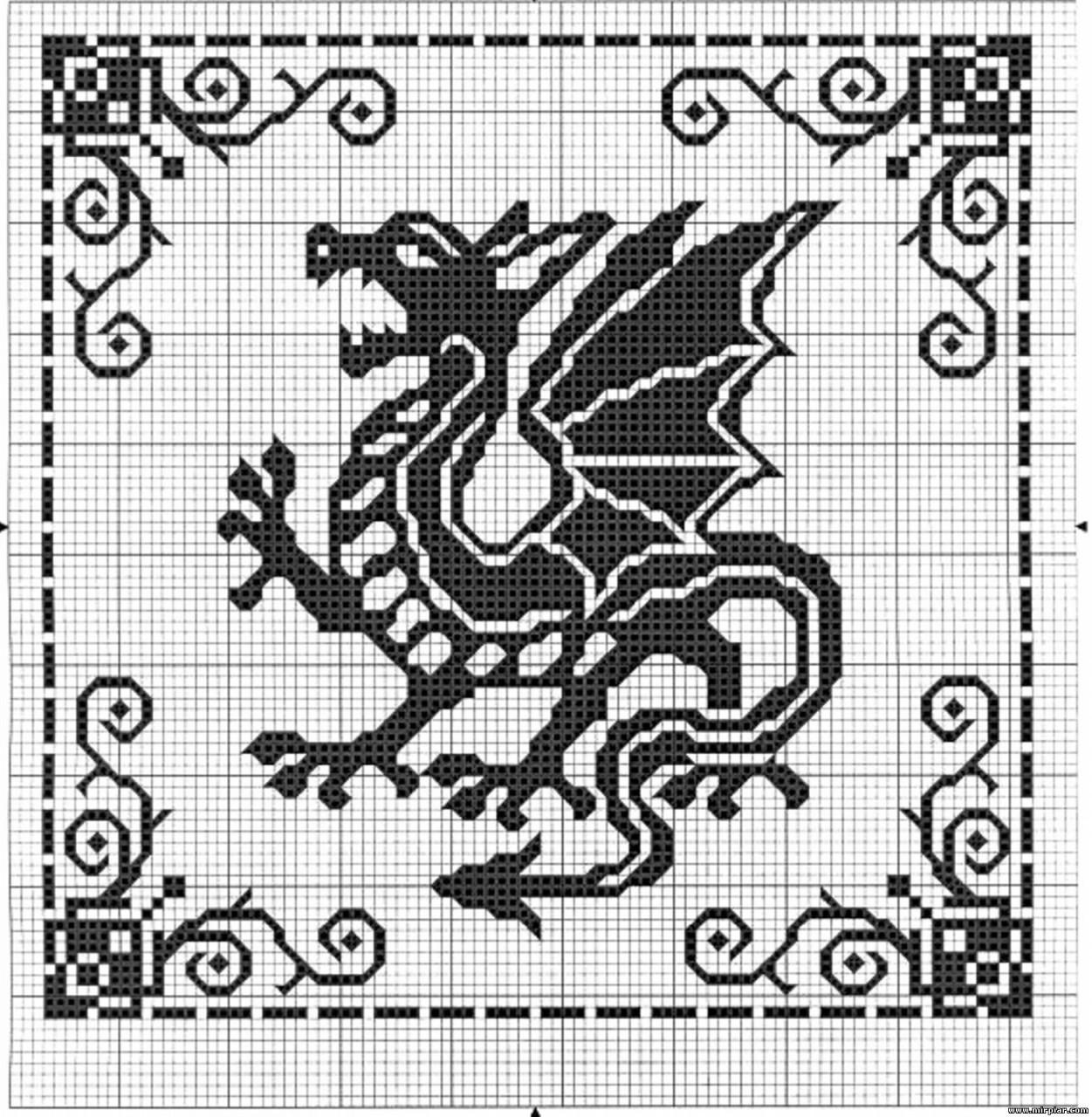 Схемы Дракона для вышивки