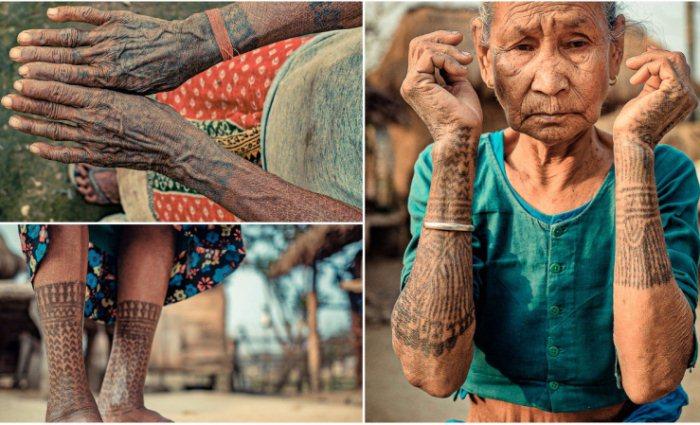 Последние из тхару: загадочные татуировки у женщин вымирающего племени в Непале