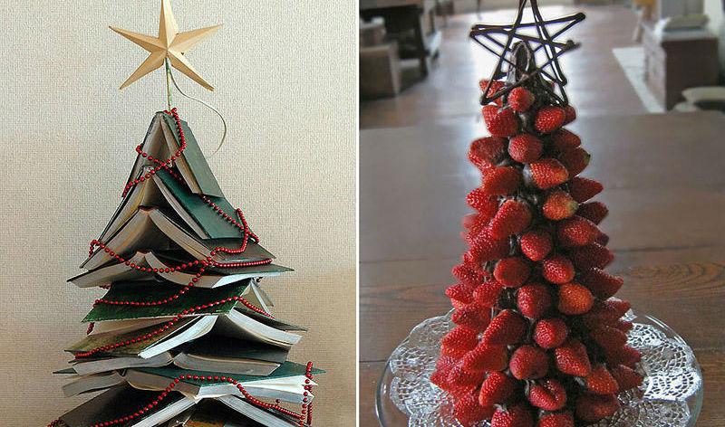 Простые идеи новогодней елки…