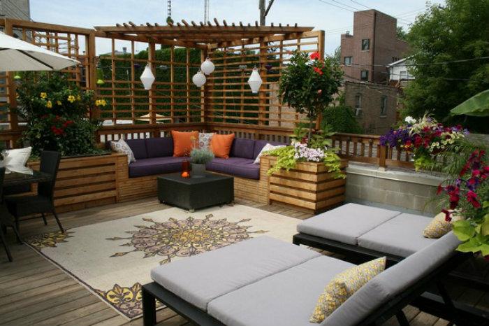 Рай на крыше: идеи оформления пространства на открытом воздухе