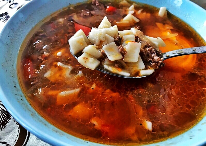 Суп Ман-пар или ленивый лагман