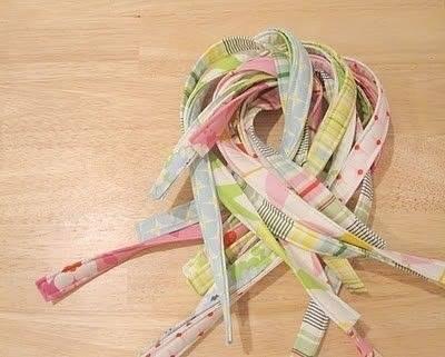 Плетём корзинку из полосок ткани 2