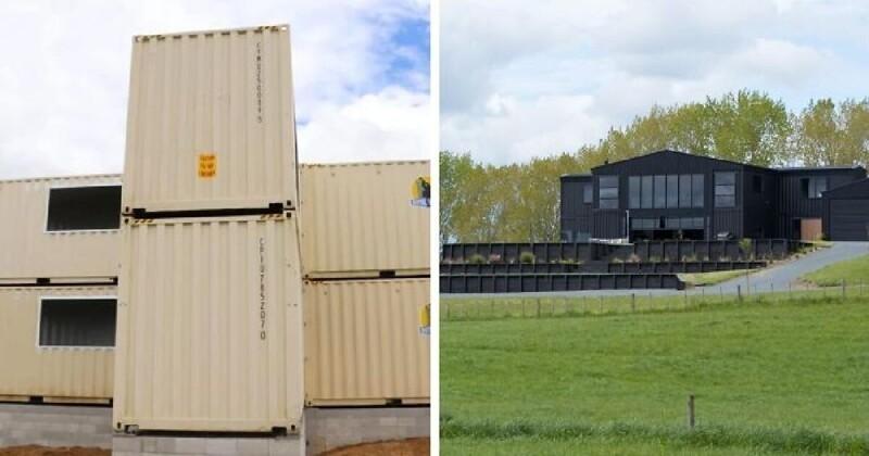 Интересный проект: дом из транспортных контейнеров