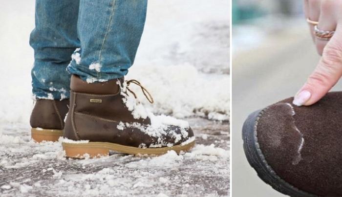 Как спасти свою обувь от соляных разводов