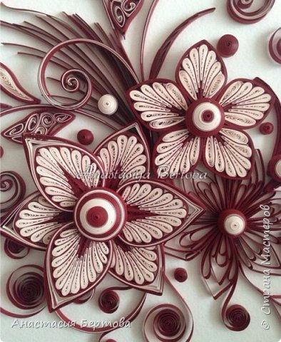 Фантазийные цветы в технике квиллинг