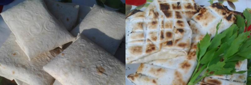 лаваш с сыром на мангале