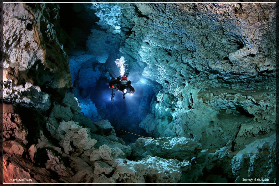 Подземная река Сак-Актун. Шибальба. Мексика. Красивое фото
