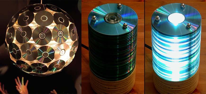 люстры из компактных дисков