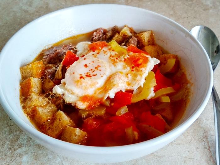 Мадридский чесночный суп кухни мира,супы
