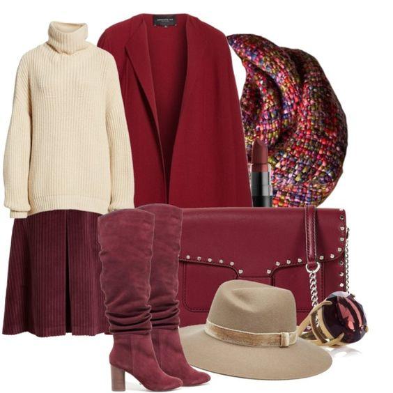 Как носить красное пальто стильно — 7 изысканных образов с одной вещью