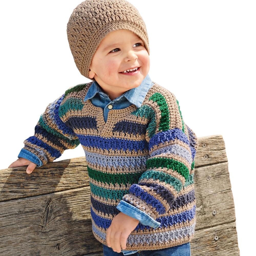 Пуловер с узором из рельефны…