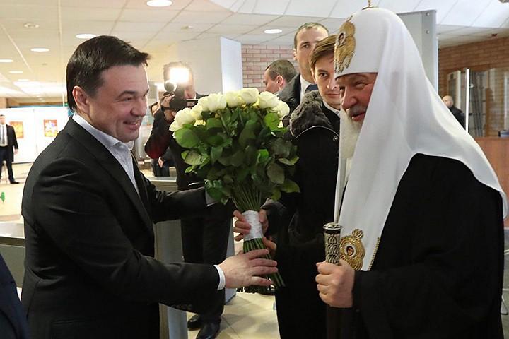 Губернатор Подмосковья и Патриарх Кирилл проголосовали в Одинцове