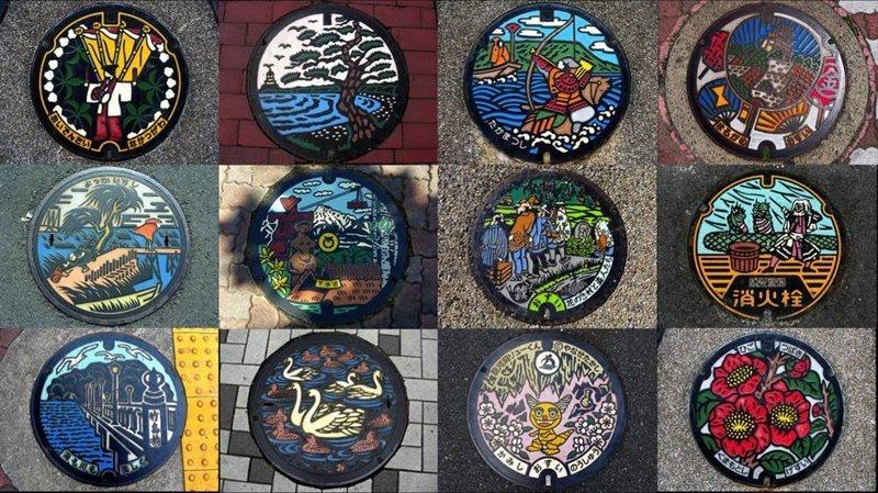 13. Необычные канализационные люки интересно, путешествия, удивительно, япония