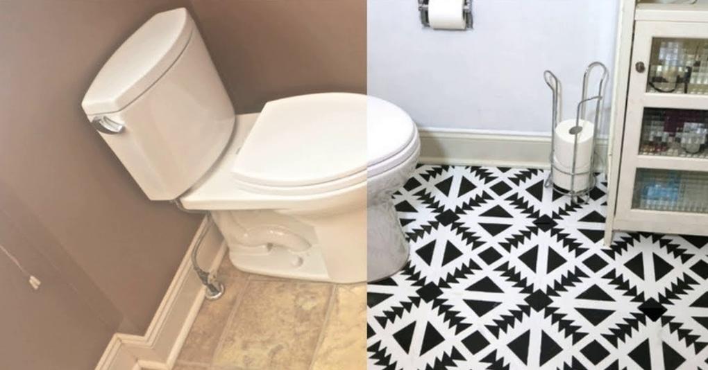 Стильное и бюджетное решение для пола в ванной