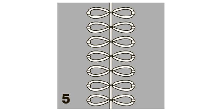 Декоративная вышивка: ручной шов «маргаритка»