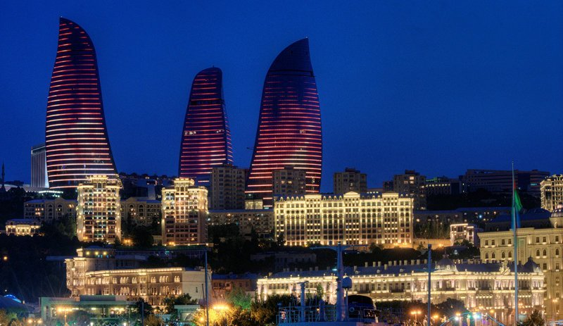 «Пламенные башни», Баку, Азербайджан красота, небоскребы, самый-самый, строительство, удивительное, фантастика