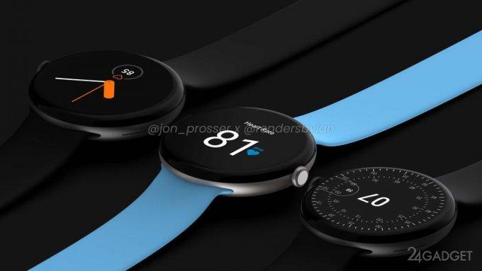 Инсайдер обнародовал изображения с умными часами Google Pixel Watch видео,гаджеты,мобильные телефоны,смартфоны,техника,технологии,электроника