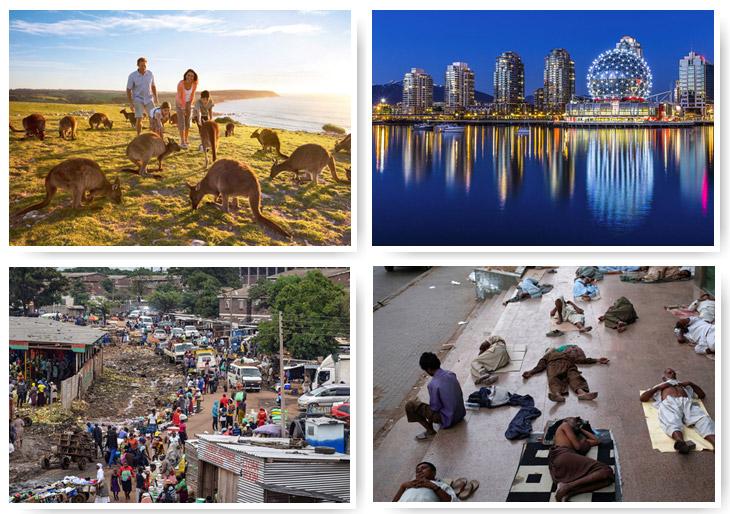 10 лучших и худших городов мира для жизни